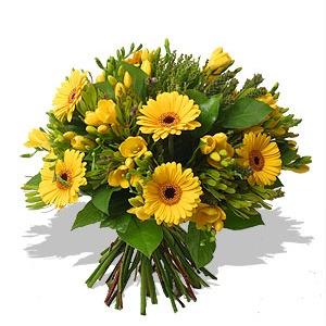 Fiori Gialli Mazzo.Bouquet Di Fiori Gialli Fiori Online Vendita E Consegna Fiori A