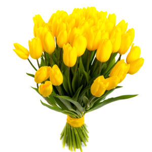 Bouquet di tulipani gialli