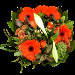 Mazzo di fiori per la festa della mamma - bouquet arancio