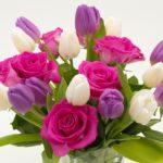 Mazzo di rose e tulipani - festa della mamma 2018